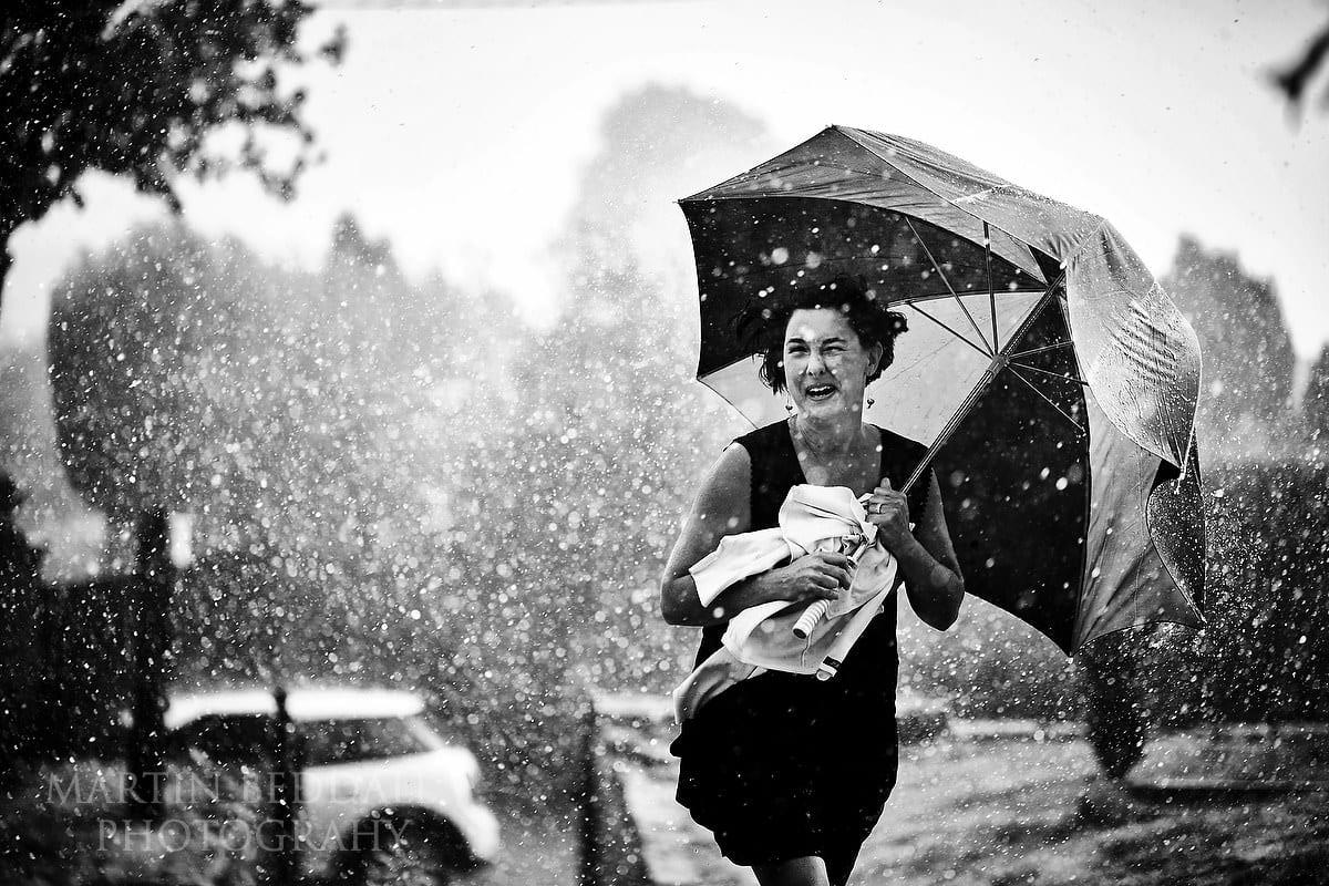 Award-winning wet wedding photography