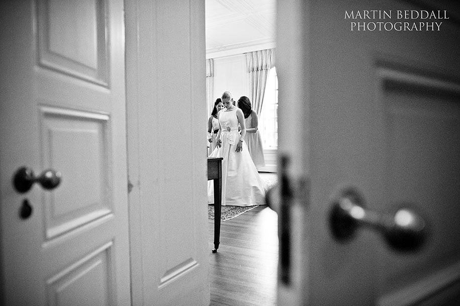Bride getting ready at Inner Temple