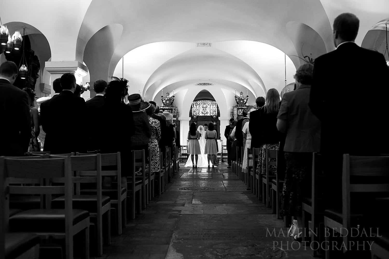 OBE chapel wedding ceremony