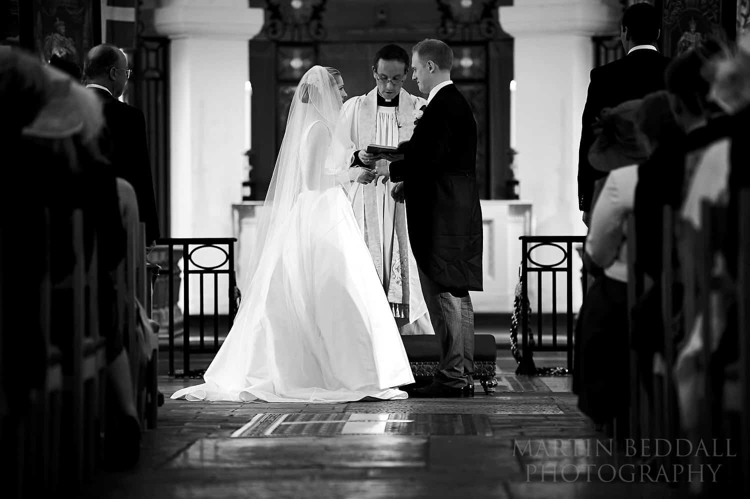 Wedding ceremony in the OBE chapel at St Paul's cathedral
