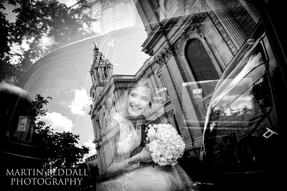 Award winning wedding photograph of a bride at St Paul