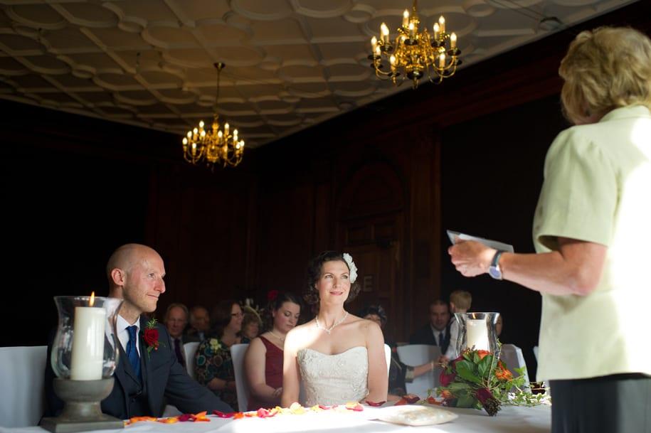 Wedding ceremony begins