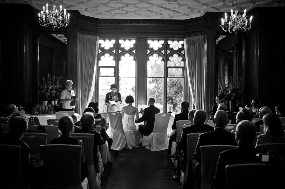 Nutfirld Priory hotel wedding ceremony