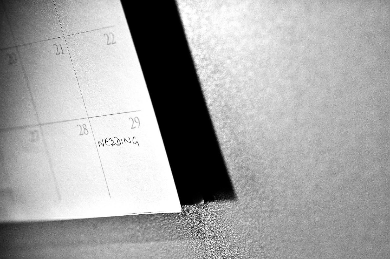 Wedding date marked