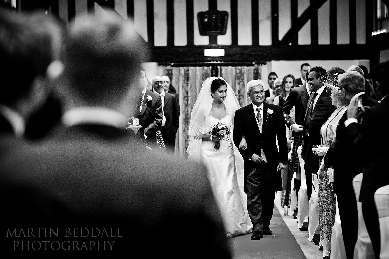 Burford Bridge hotel tithe barn wedding