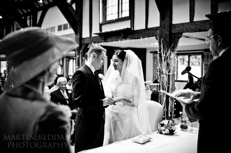 Burford Bridge hotel wedding ceremony