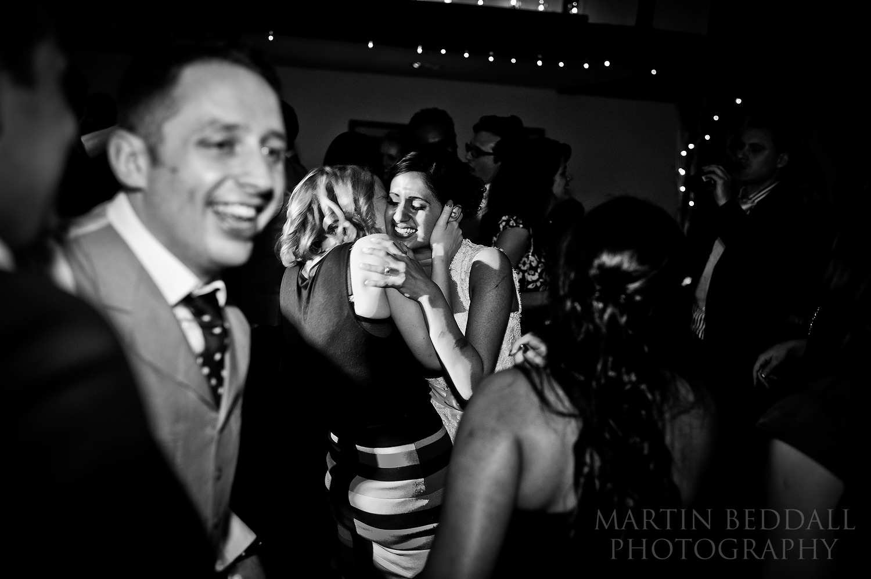 Wedding dance floor at Burford Bridge hotel