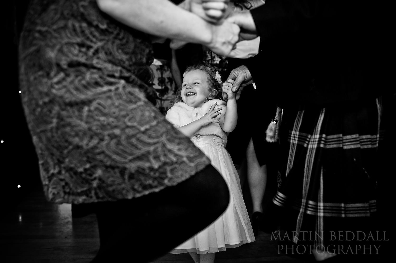 happy damcer at Burford Bridge hotel wedding