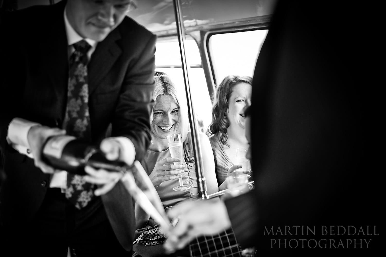 Wedding on a London bus