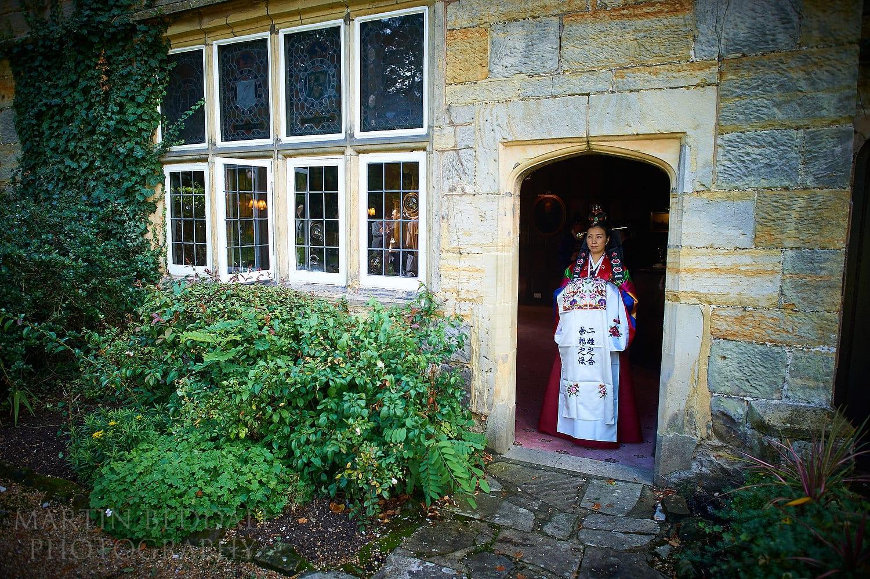 Korean bride at Ockenden Manor in Cuckfield