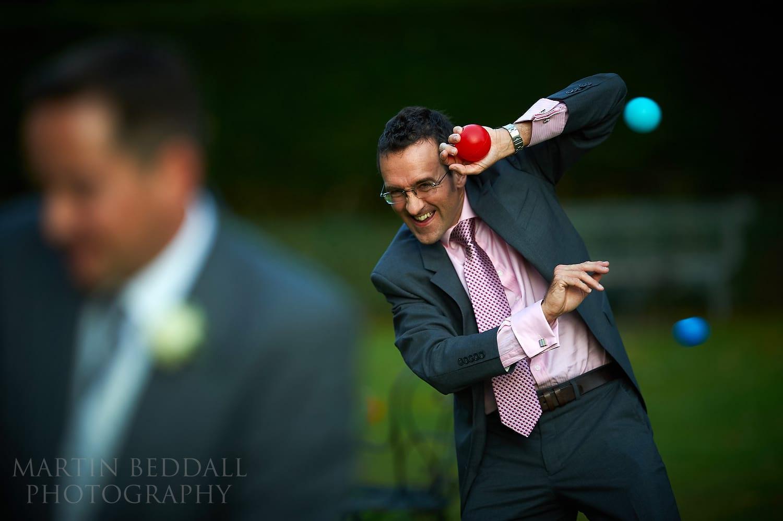 Wedding games at Ockenden Manor in West Sussex