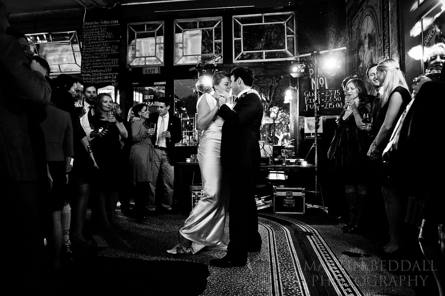 First dance at Peasant pub wedding in London