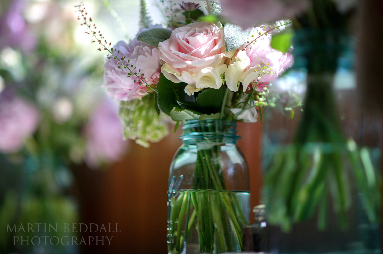 Flower arrangement by Florist in the Forest at Cuckfield Hall wedding
