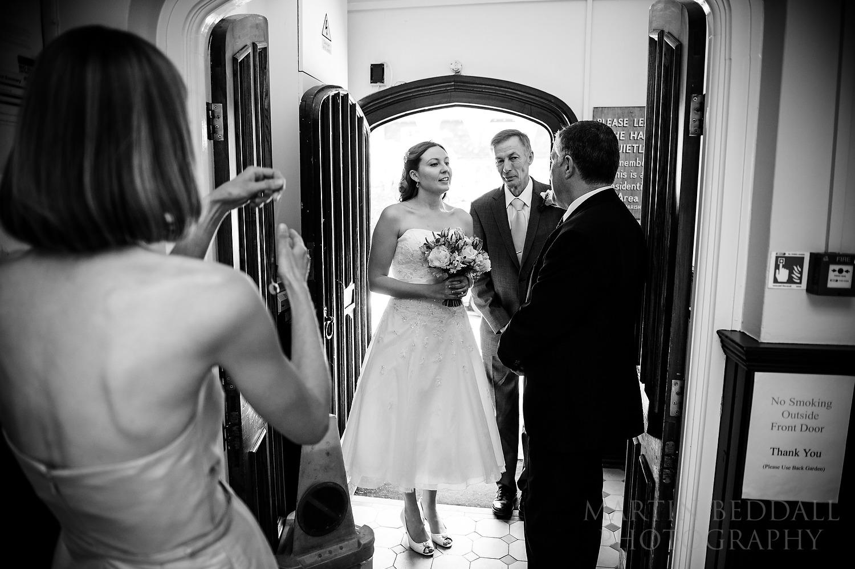 Bride arrives for Cuckfield Hall wedding