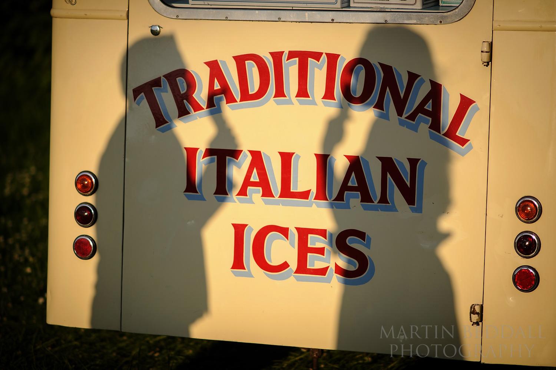 Evening wedding ice cream