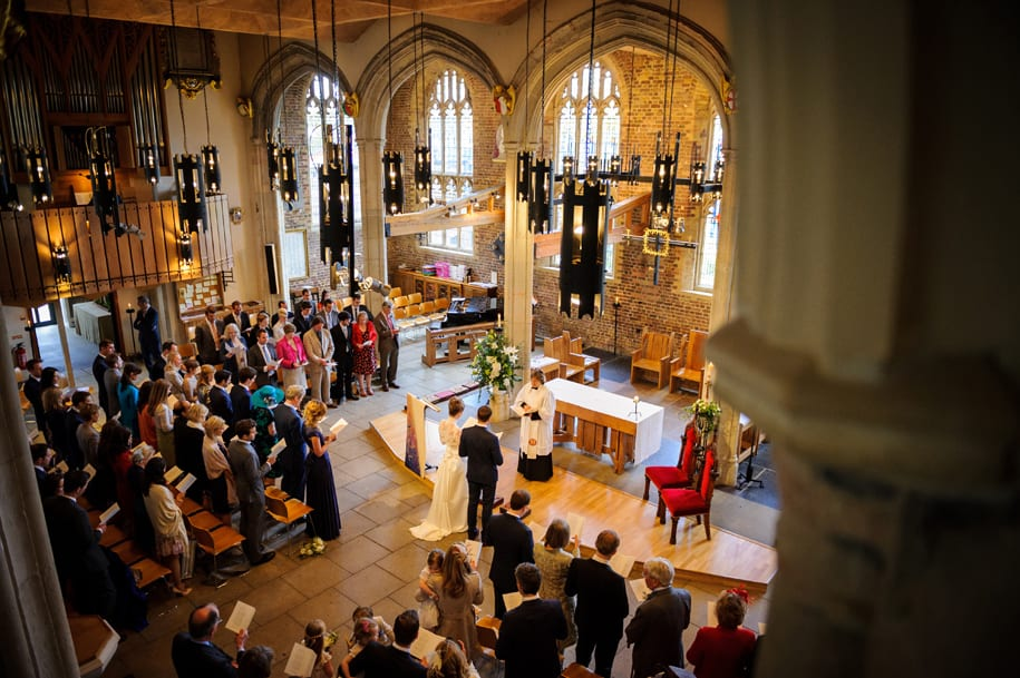 London wedding ceremony at St Mary's in Putney