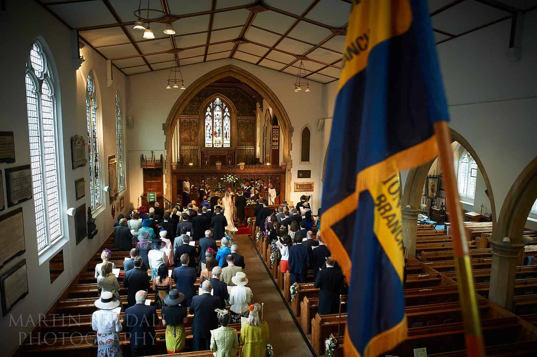 St Andrew's church wedding ceremony in Ham