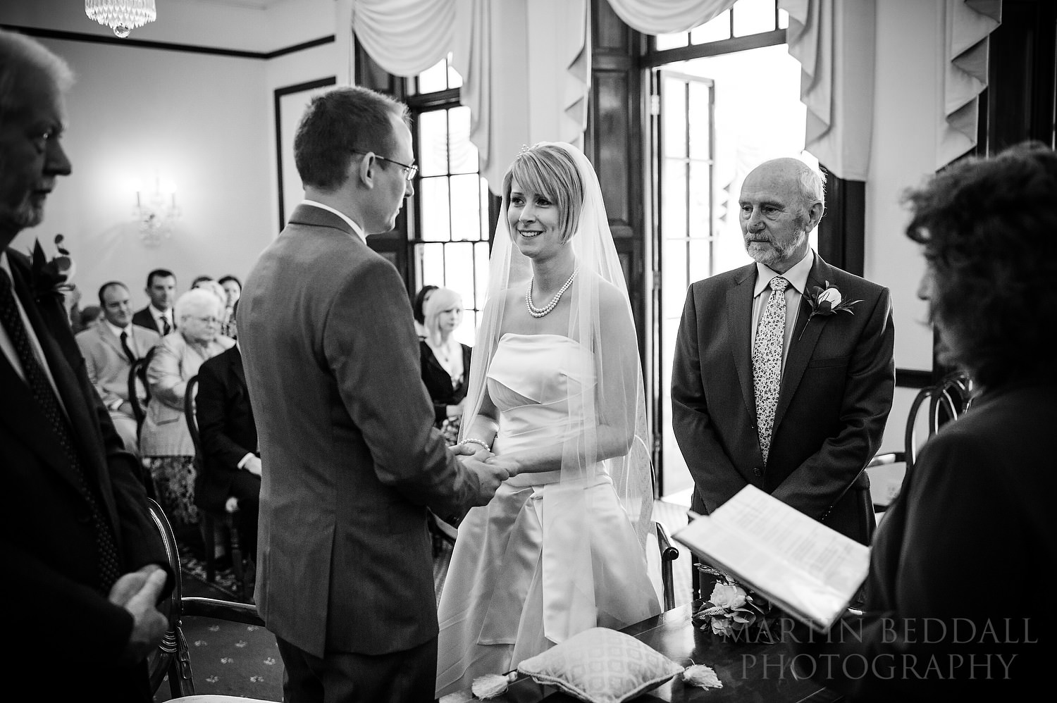 Wedding ceremony at The Mansion Leatherhead Registry Office