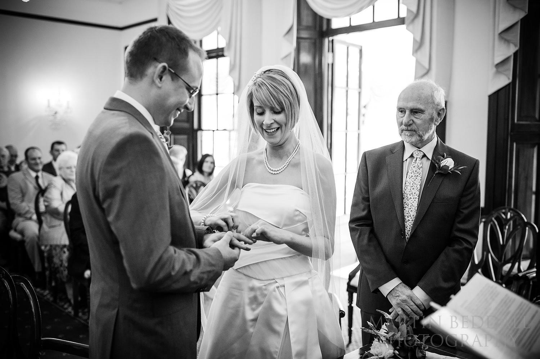 Wedding ring on