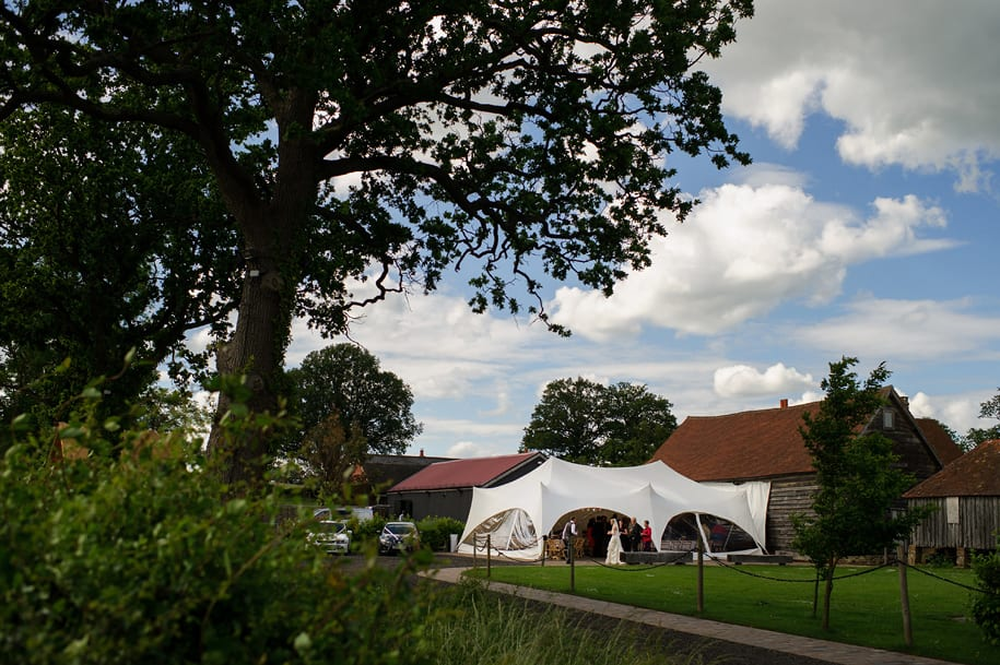 Wedding reception at Old Green Barn near Newdigate Surrey