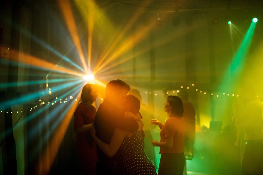 Dancing at an Old Greens Barn wedding