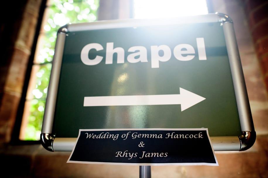 Cambridge chapel sign