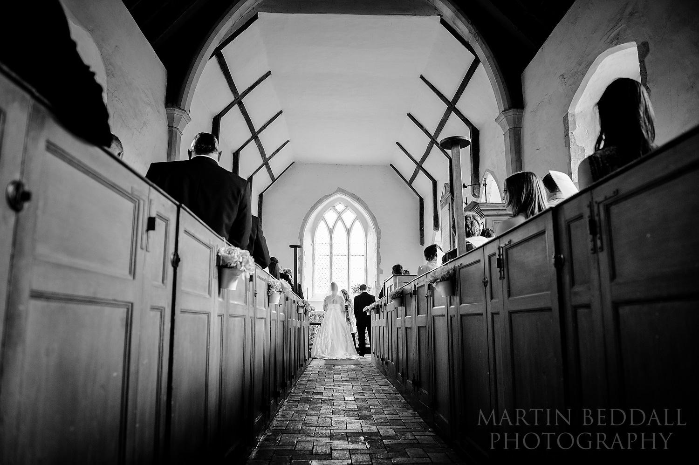 Suffolk wedding ceremony at Ramsholt church