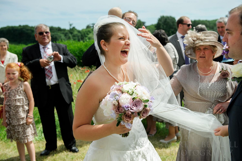 Wayward wedding veil