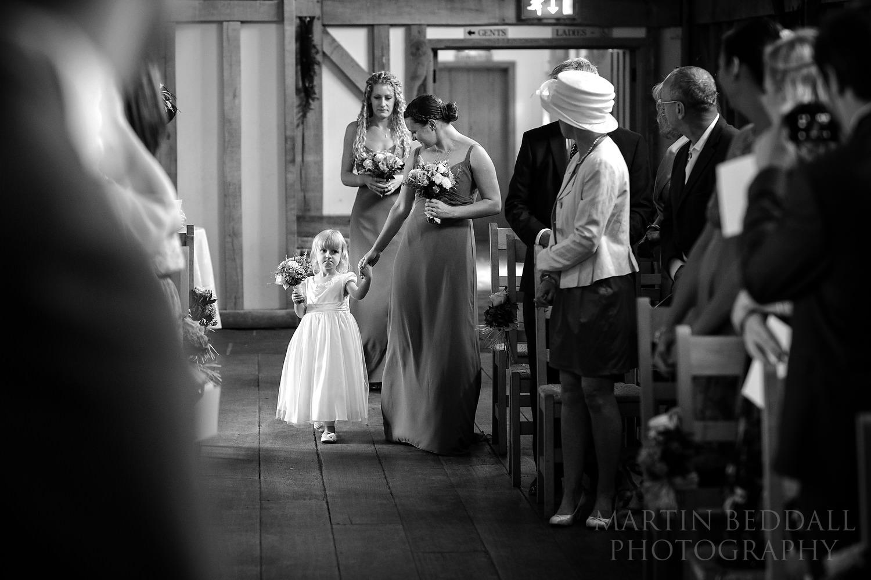 Gate Street Barn wedding ceremony starts