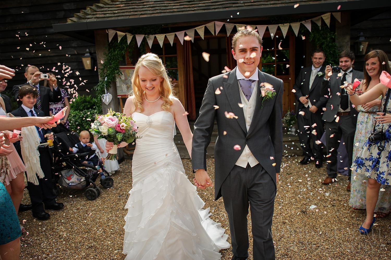 Gate Street Barn wedding confetti