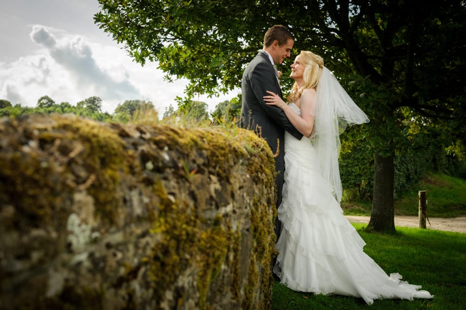 Bride and Groom portrait at Gate Street Barn