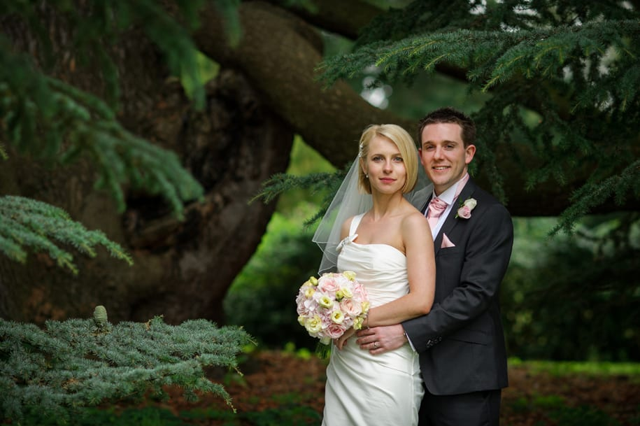 Bride and groom portrait at Kirtlington Park