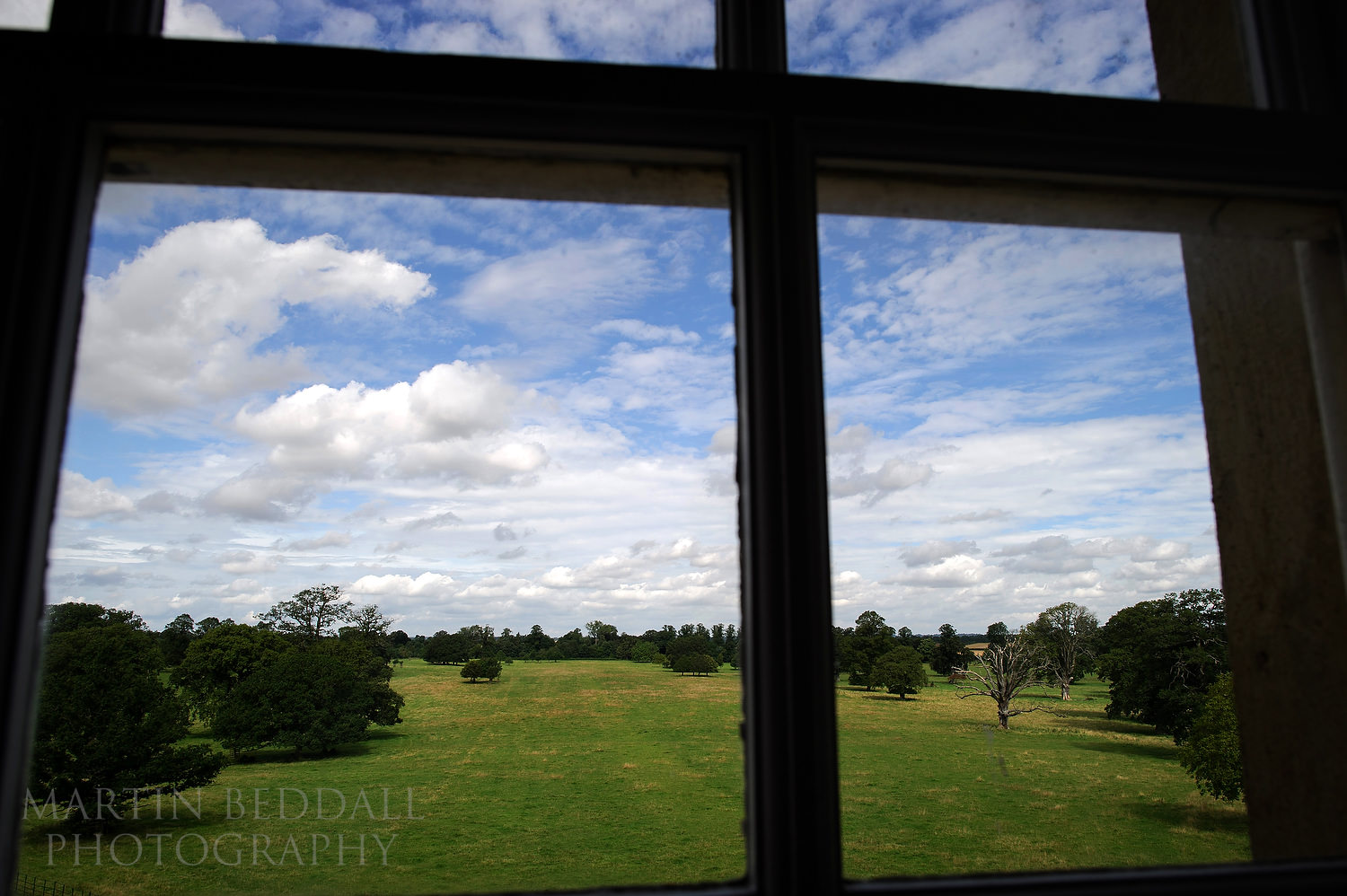 View from a window at Kirtlington Park