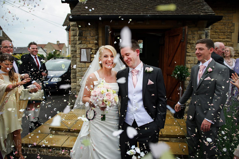Confetti at Oxfordshire wedding