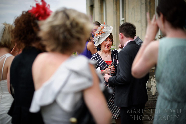 Kirtlington Park wedding reception on the terrace