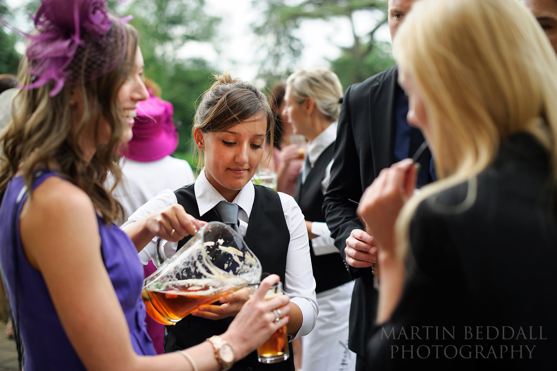 Kirtlington Park wedding drinks
