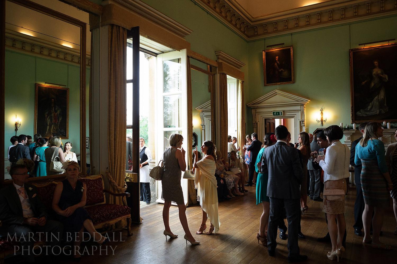 Kirtlington Park wedding reception inside