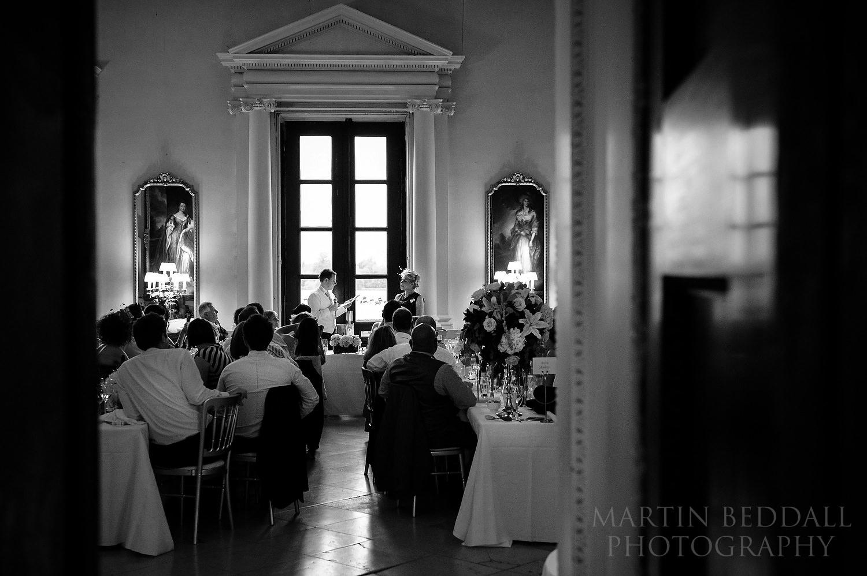 Wedding speeches at Kirtlington park