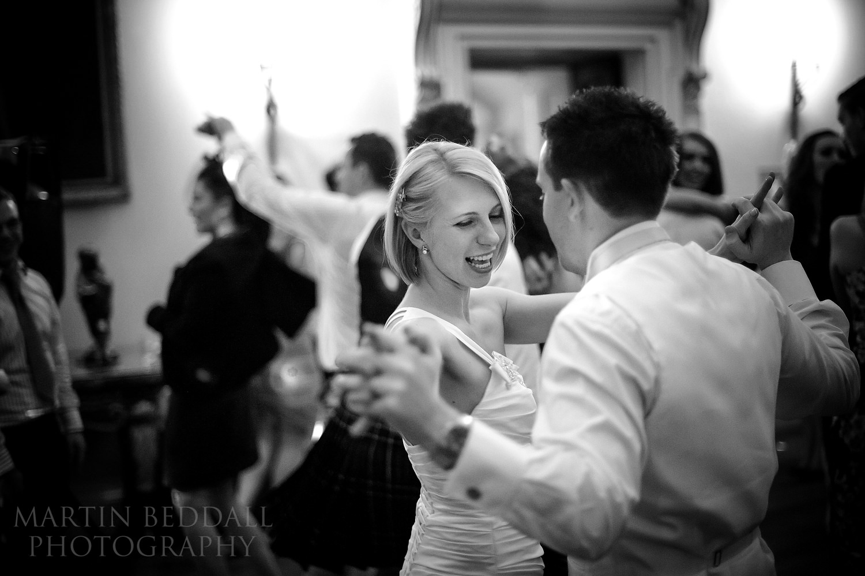 Wedding dancing at Kirtlington Park