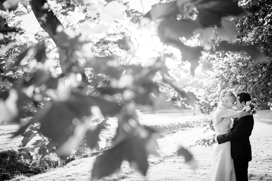 Bride and grrom portrait at Newick Park in the sunshine