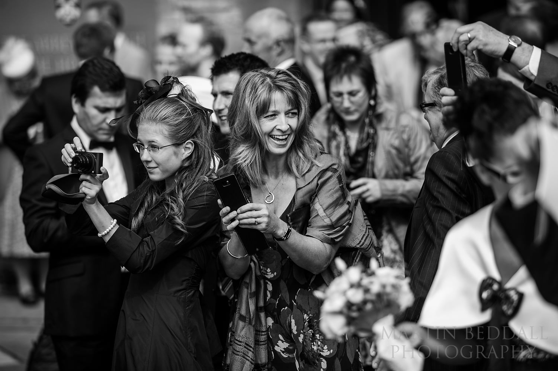 Pershore Abbey wedding guests