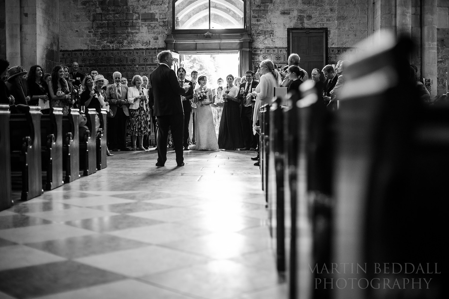 Father of the bride speech in Pershore Abbey