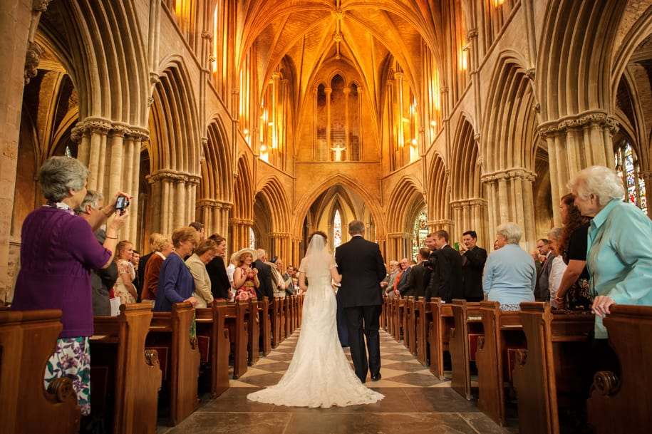 Pershore Abbey wedding ceremony