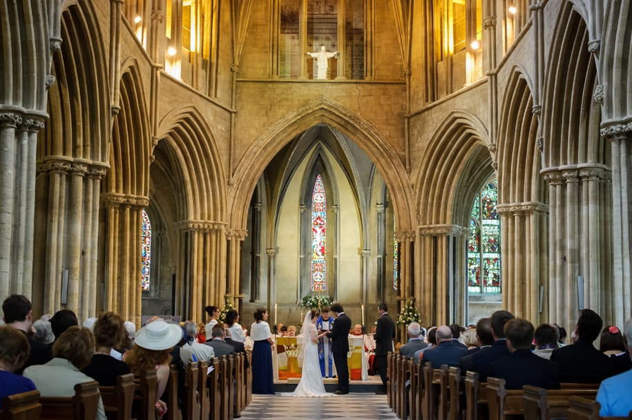 Pershore wedding ceremony