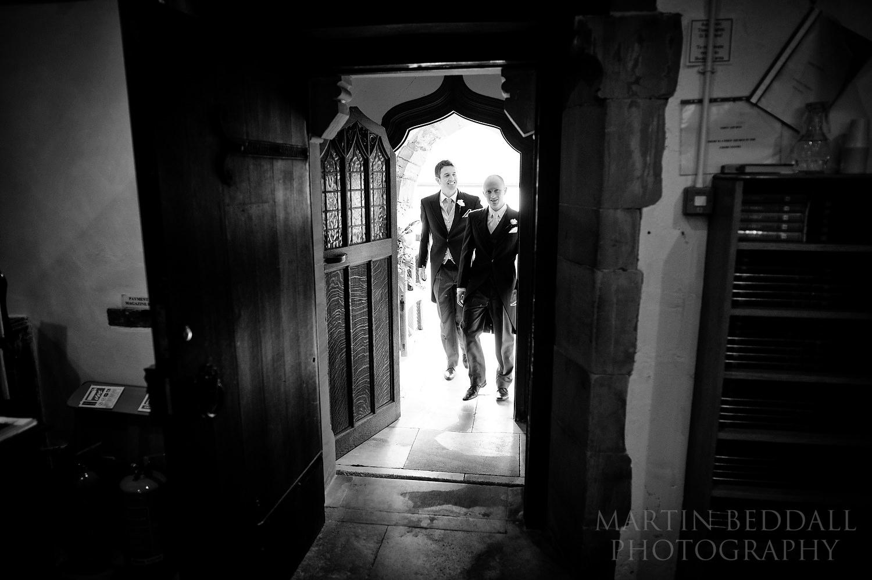 Groom arrives at St Margaret's church in Ditchling