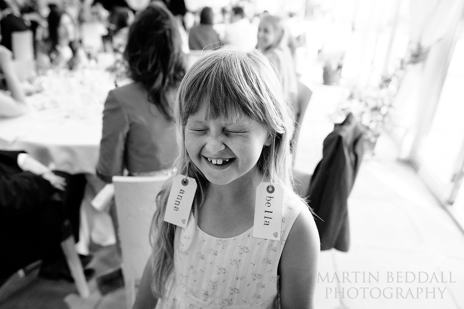 Young wedding guest