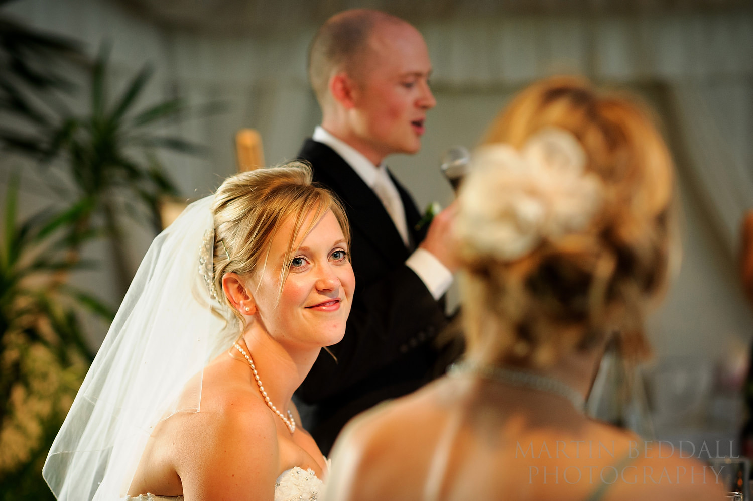 Bride looks to her sister