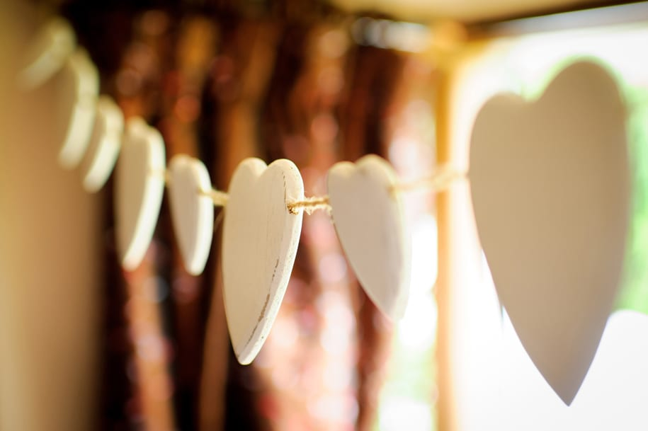 Line of hearts decoration