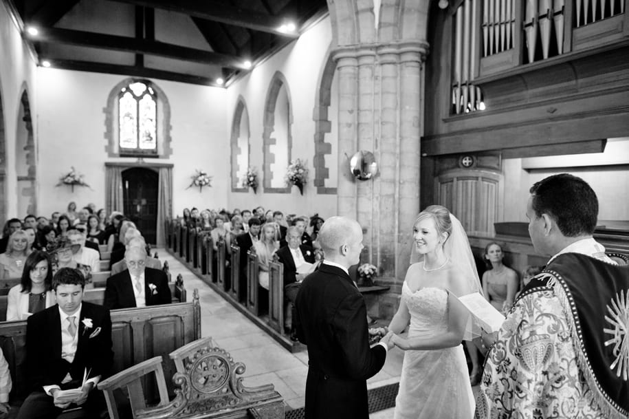 Sussex wedding ceremony at Ditchling church