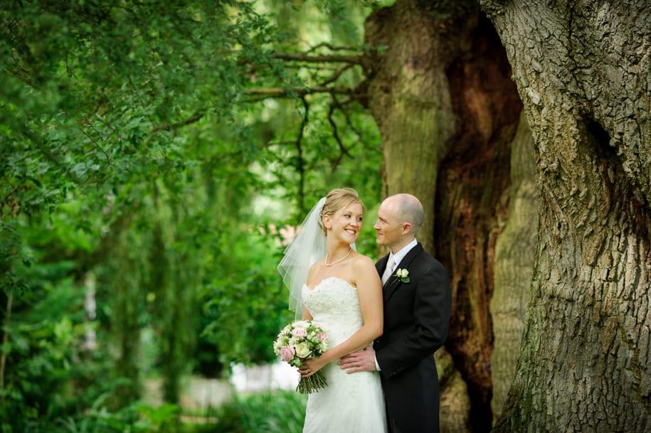 Bride and groom portrait at Ridge Farm